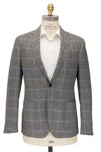 Maurizio Baldassari - Brera Gray & Blue Windowpane Wool Sportcoat