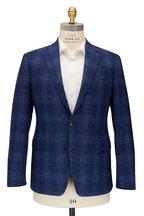 Atelier Munro - Bright Navy Blue & White Check Sportcoat