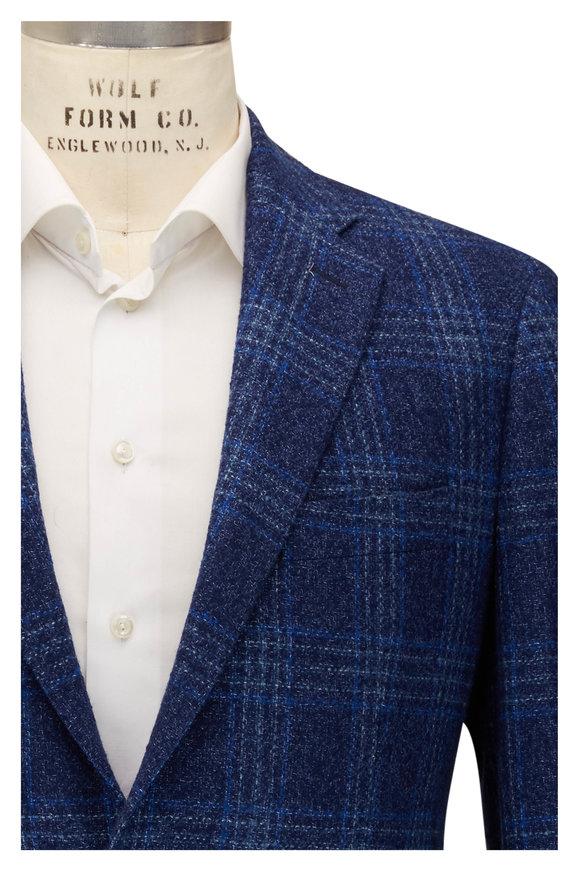 Atelier Munro Bright Navy Blue & White Check Sportcoat