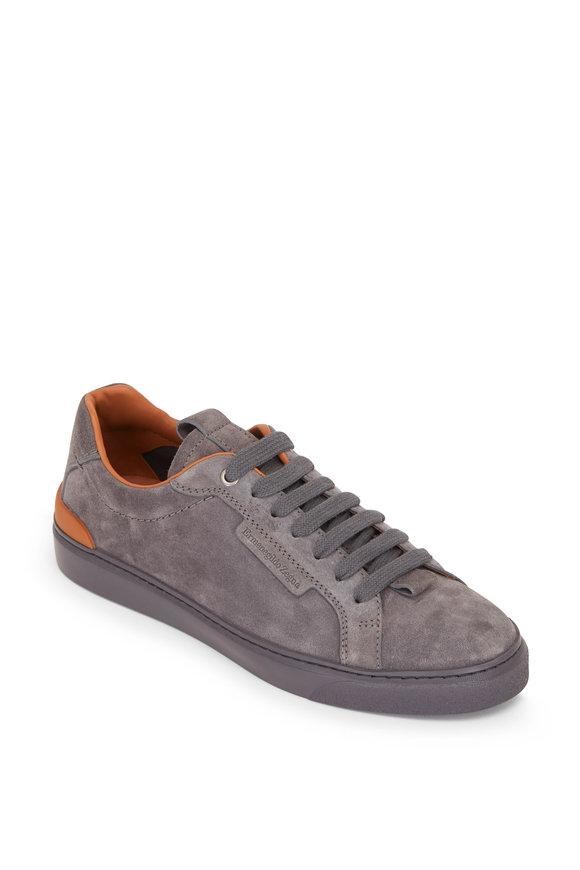 Ermenegildo Zegna Ferrara Gray Suede Sneaker