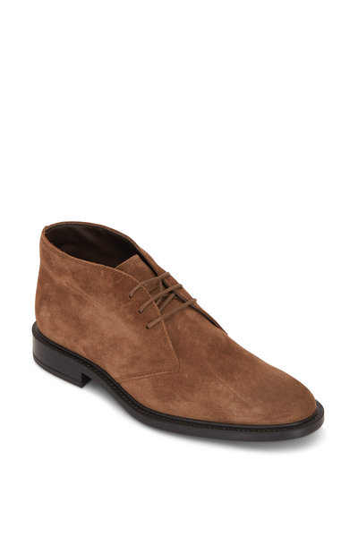 Tod's - Medium Brown Suede Lace-Up Chukka Boot