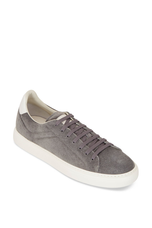 Brunello Cucinelli Gray Suede Air Sole Sneakers