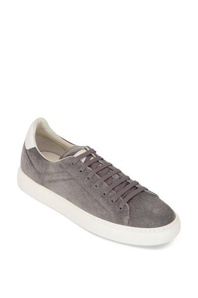 Brunello Cucinelli - Gray Suede Air Sole Sneakers