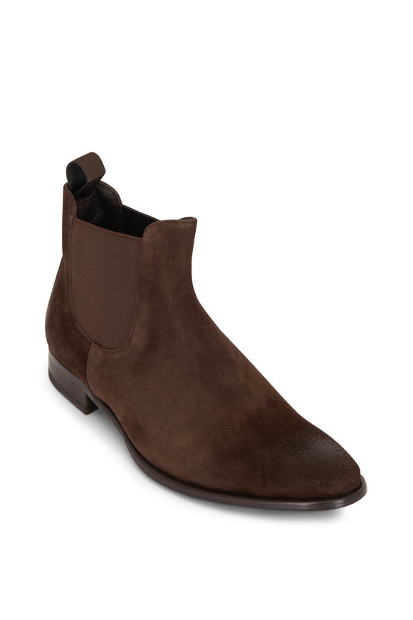 To Boot New York Sherman Brown Suede Chelsea Boot
