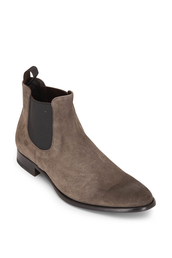 To Boot New York Sherman Gray Suede Chelsea Boot
