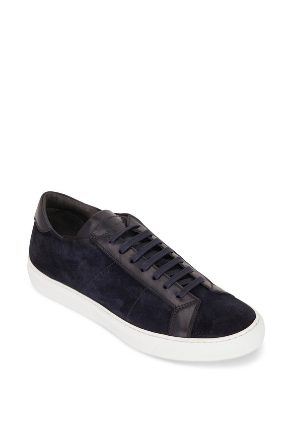 To Boot New York Malden Blue Leather & Suede Sneaker