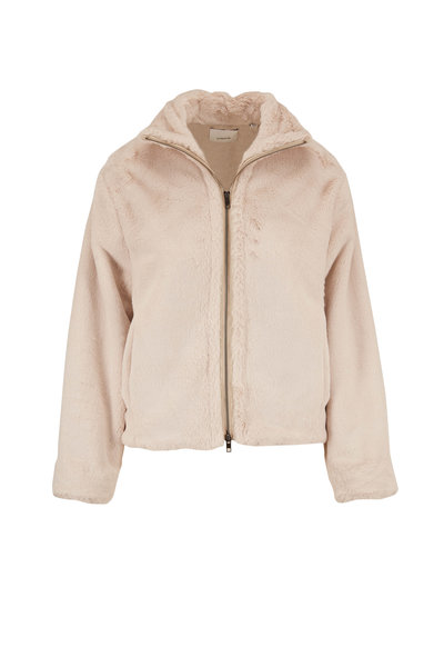 Vince - Cream Faux Fur Plush Jacket