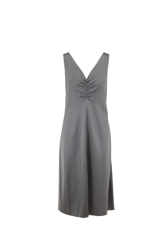 Vince Patina Hammered Silk Sleeveless Dress