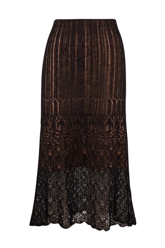 Vince Black Ladder Stitch Skirt