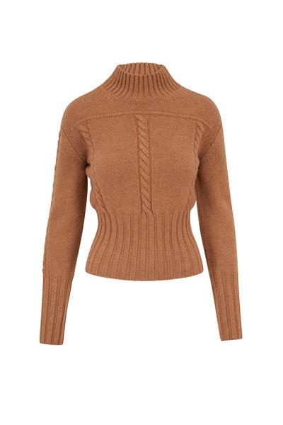 Khaite - Carmel Cable Knit Pullover Sweater