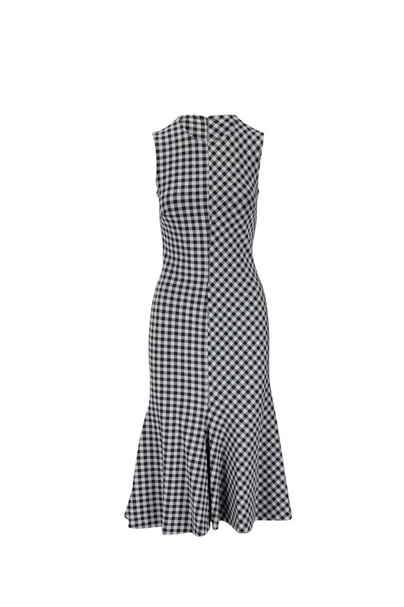 Rosetta Getty Black & White Gingham Jacquard Dress