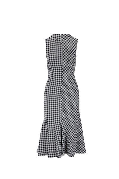Rosetta Getty - Black & White Gingham Jacquard Dress