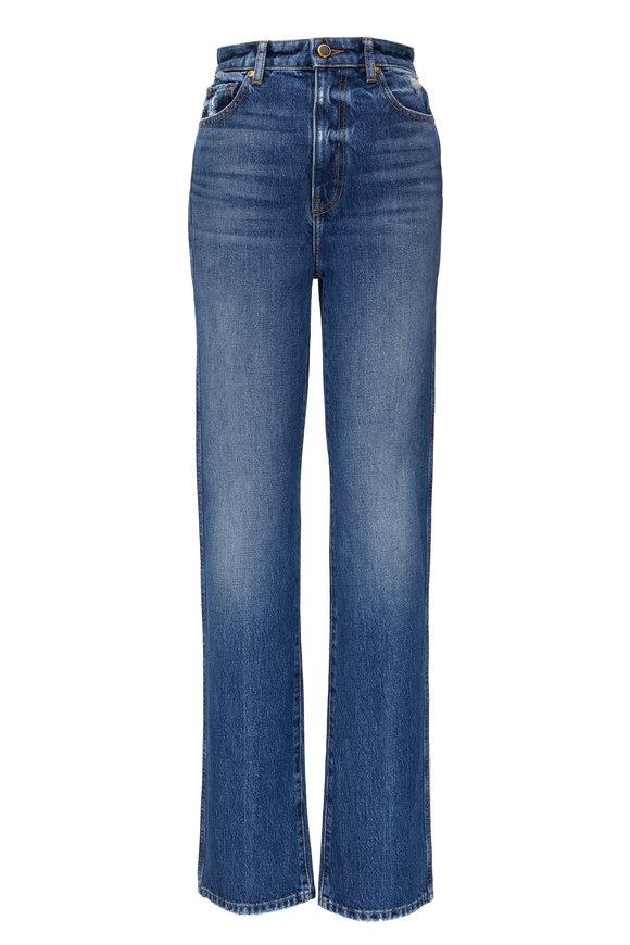 Khaite Danielle Medium Wash Straight Leg Jean