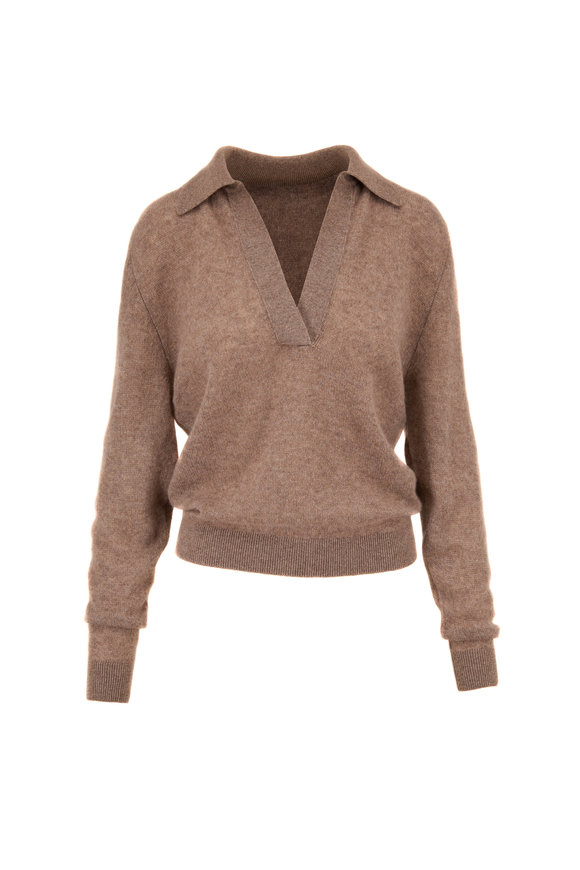 Khaite Jo Barley Cashmere Johnny Collar Sweater