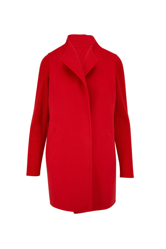 Kinross Burnt Red Open Front Cardigan