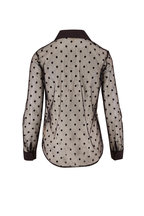 L'Agence - Hailie Black Dot Sheer Blouse