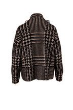 Akris - Black & Ivory Cashmere & Silk Cardigan