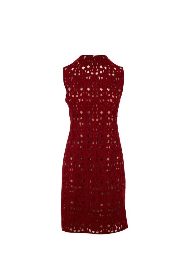 Akris Carmin Lace Sleeveless Shift Dress