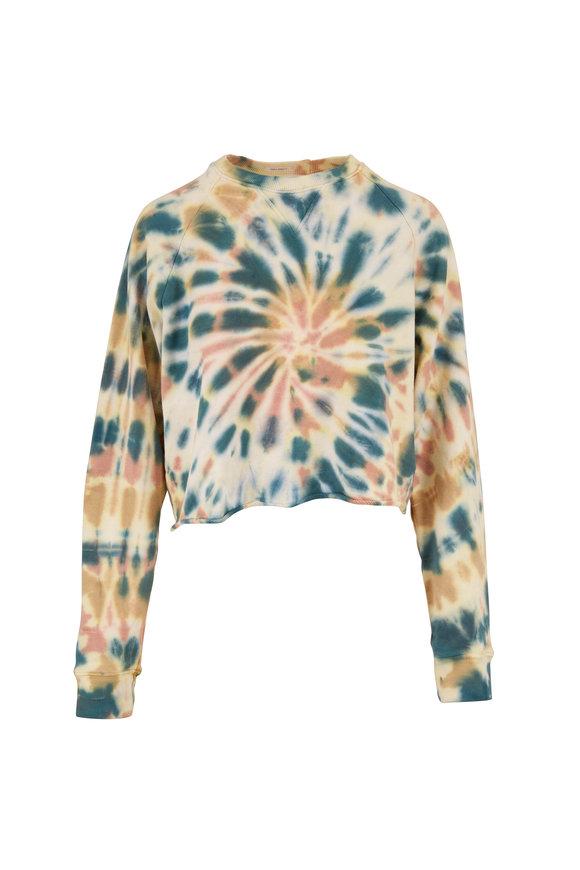 Mother Denim The Loafer Delusional Crop Fray Sweatshirt
