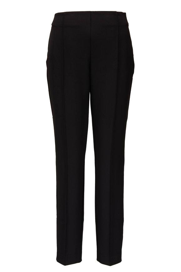 Lafayette 148 New York Gramercy Black Side Zip Seamed Pant