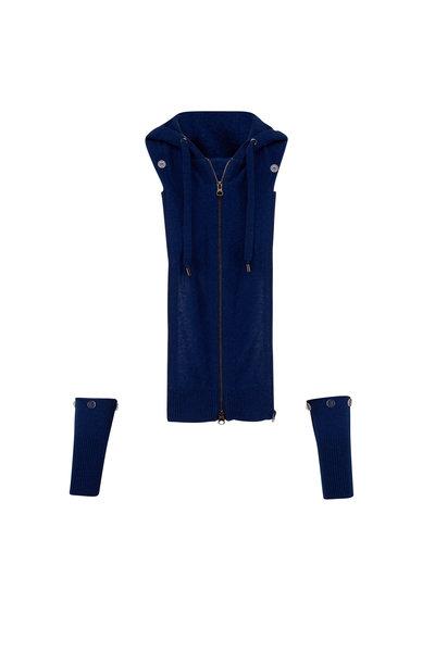 Veronica Beard - Dark Blue Cashmere Hooded Dickey