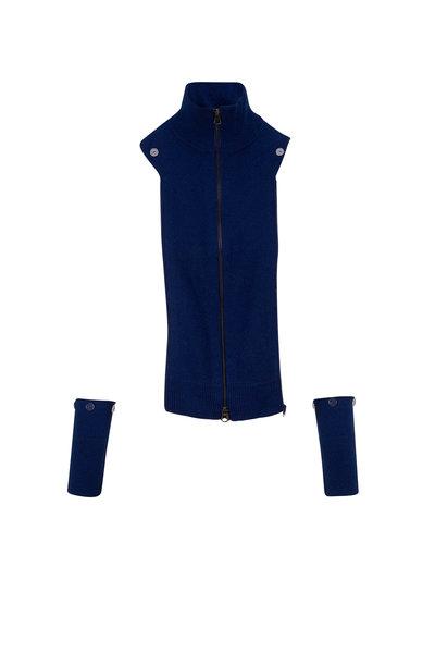 Veronica Beard - Uptown Dark Blue Cashmere Dickey
