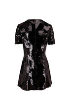 Saint Laurent - Black Origami Paillette Dress