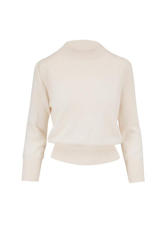 Raffi  Cream Cashmere Mockneck Sweater