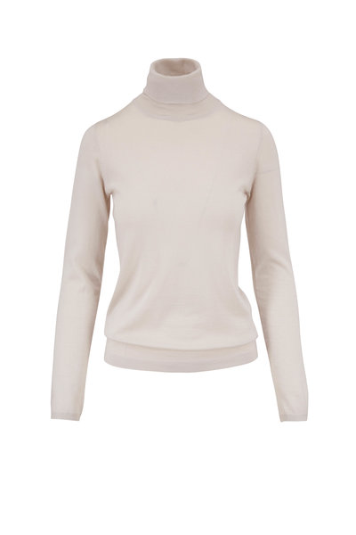 Brunello Cucinelli - Sand Cashmere Turtleneck Sweater