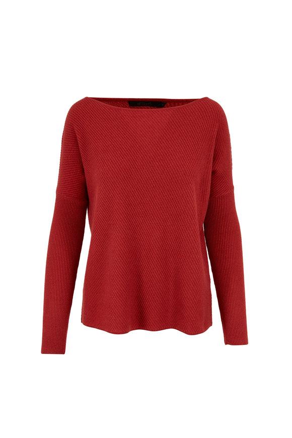 Raffi  Burnt Orange Cashmere Boatneck Sweater