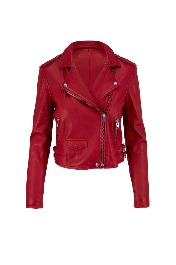 IRO Ashville Red Ruby Leather Jacket