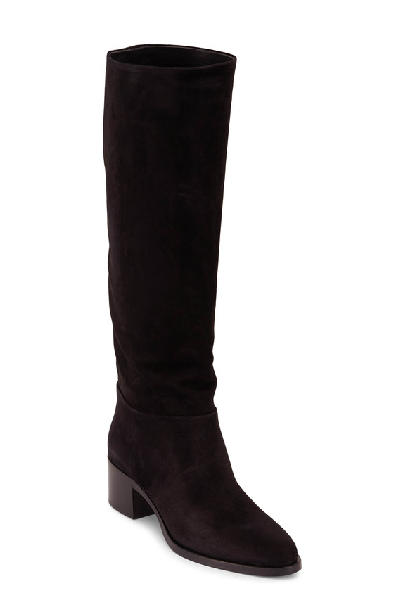 Prada Black Suede Tall Boot, 45mm