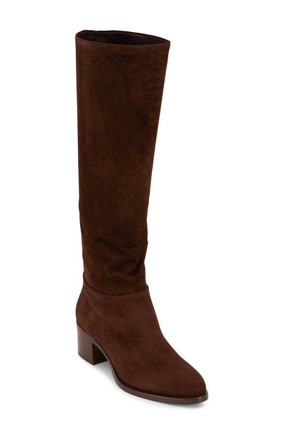 Prada Brown Suede Tall Boot, 45mm
