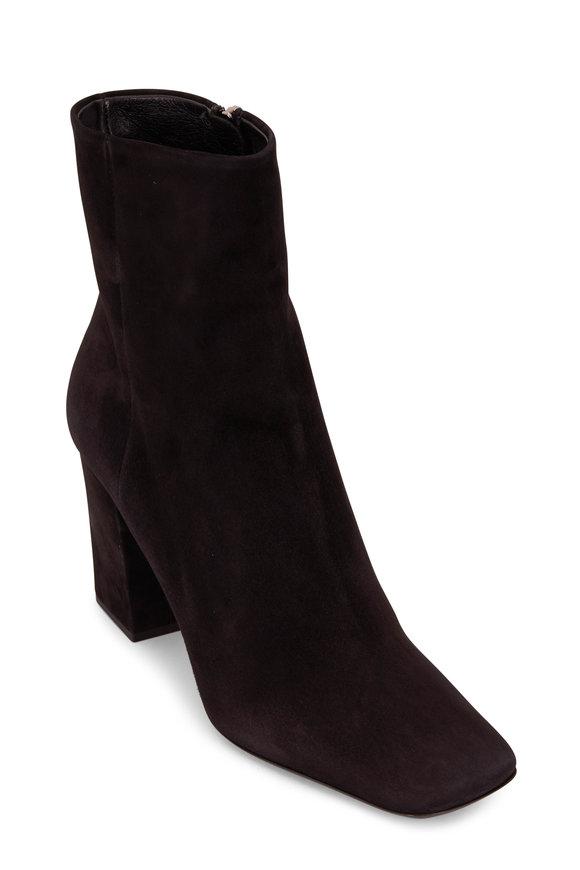 Prada Black Suede Side Zip Boot, 85mm