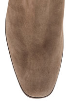 Gravati - Taupe Suede Side Zip Bootie, 50mm