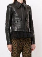 Khaite - Cordelia Black Leather Moto Jacket
