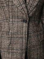 Dolce & Gabbana - Brown Tartan Alpaca Blend Blazer