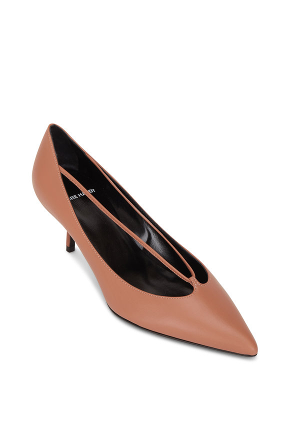 Pierre Hardy Santal Pink Leather Pointed Toe Pump, 55mm