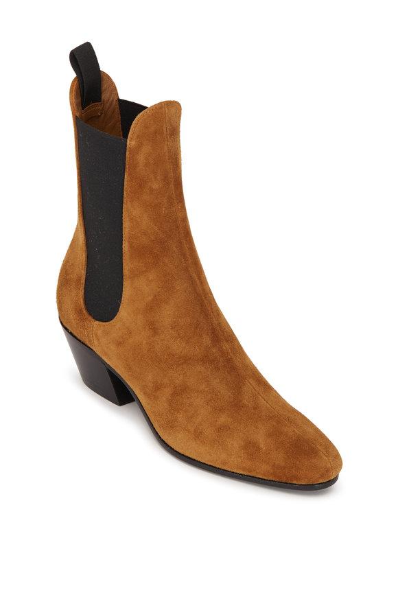 Khaite Saratoga Caramel Suede Chelsea Boot