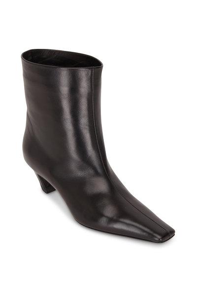 Khaite - Arizona Black Leather Ankle Bootie