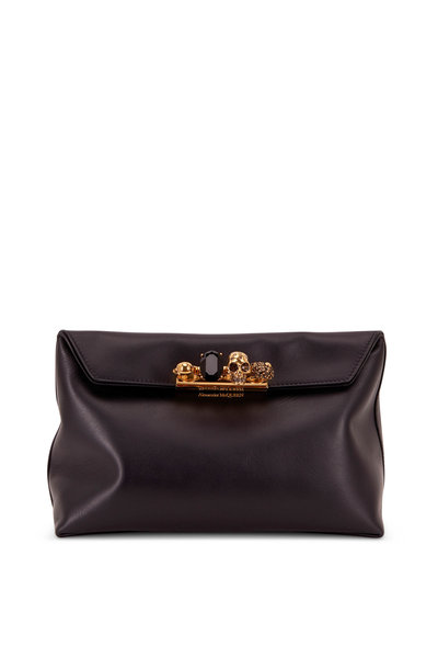 Alexander McQueen - Black Soft Leather Knuckle Pouch