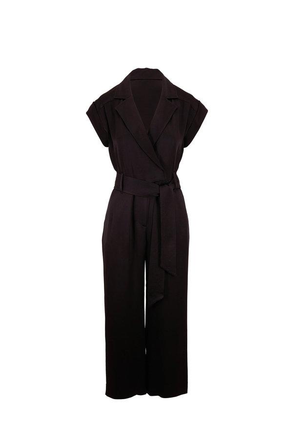 Veronica Beard Ophelia Black Belted Jumpsuit