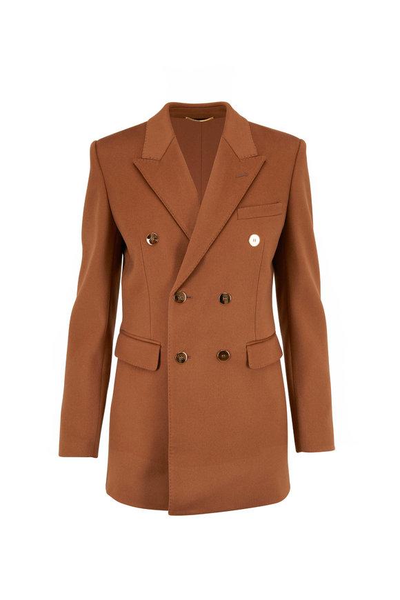 Saint Laurent Camel Wool & Cashmere Pea Jacket