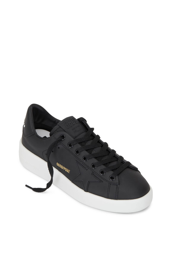 Golden Goose Pure Star Black Leather Sneaker