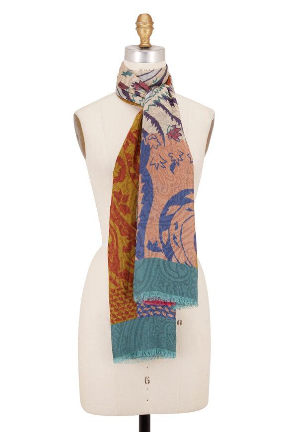 Etro Agra Multicolor Cashmere & Silk Scarf