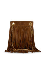 Saint Laurent - Grace Dark Land Suede Fringe Small Bag