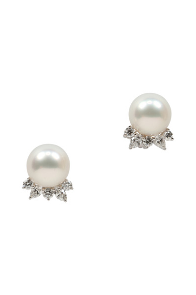 Assael - White South Sea Pearl Diamond Earrings