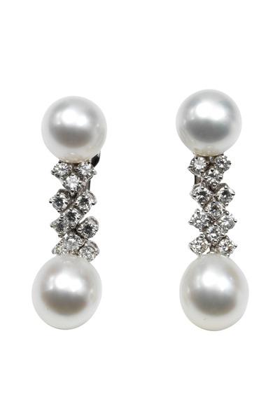 Assael - Pearl Button Drop Earrings