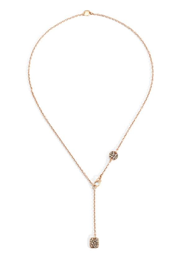 Pomellato 18K Rose Gold Diamond Sabbia Necklace