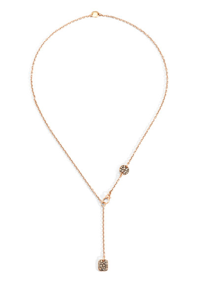 Pomellato - 18K Rose Gold Diamond Sabbia Necklace